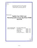Đề Tài:  Nghiên Cứu Chiến Lược Marketing Quốc Tế của Tập Đoàn FORD MOTOR