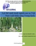 Lợi thế cạnh tranh ngành cao su Việt Nam xuất khẩu sang Trung Quốc