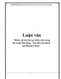 """Luận văn: """"Khảo sát các thủ tục kiểm soát trong chu trình Bán hàng - Thu tiền tại khách sạn Hương Giang"""""""