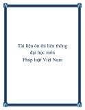 Tài liệu ôn thi liên thông đại học môn Pháp luật Việt Nam