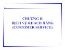 Dịch vụ khách hàng - Quản trị Logistics