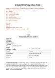 English for International trade 1