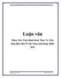 Phân Tích Tình Hình Khai Thác Và Tiêu Thụ Dầu Thô Ở Việt Nam Giai Đoạn 2009-2011