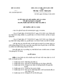 QUYẾT ĐỊNH CỦA BỘ TRƯỞNG BỘ TÀI CHÍNH Về việc ban hành và công bố sáu (06) chuẩn mực kế toán Việt Nam (đợt 3)