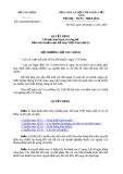 QUYẾT ĐỊNH Về việc ban hành và công bố bốn (04) chuẩn mực kế toán Việt Nam (đợt 5)