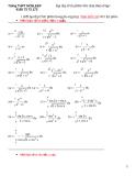 Bài tập tích phân