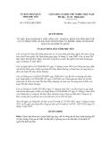 Quyết định số 14/2012/QĐ-UBND