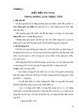 Giáo trình TRÍ TUỆ NHÂN TẠO - Chuong 1: Biểu diễn bài toán trong không gian trạng thái