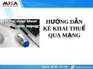 Hướng dẫn kê khai thuế qua mạng