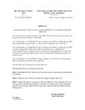 Thông tư số 21/2012/TT-BGDĐT