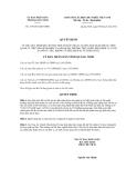 Quyết định số 1376/2012/QĐ-UBND