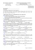 Đề thi tuyển sinh Đại học môn Hóa  khối A 2010 - Mã đề 648