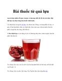 Bài thuốc từ quả lựu