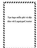 Tạo logo miễn phí và độc đáo với LogotypeCreator