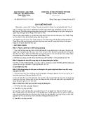 Quy chế phối hợp số 620/QCPH/HQ-CT-CA-BP