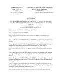 Quyết định số 27/2012/QĐ-UBND