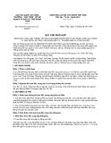 Quy chế phối hợp số 615/QCPH/CHQ-SCT-CTSKHĐT