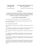 Quyết định số 20/2012/QĐ-UBND