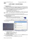 Bài giảng SolidWorks 2008