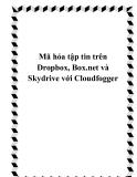 Mã hóa tập tin trên Dropbox, Box.net và Skydrive với Cloudfogger