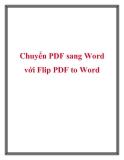Chuyển PDF sang Word với Flip PDF to Word