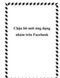 Chặn lời mời ứng dụng nhảm trên Facebook