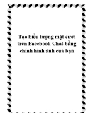 Tạo biểu tượng mặt cười trên Facebook Chat bằng chính hình ảnh của bạn