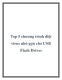 Top 5 chương trình diệt virus nhỏ gọn cho USB Flash Drives