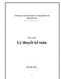 Giáo trình Lý thuyết kế toán - ĐH Kinh doanh & Công nghệ Hà Nội