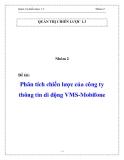 Đề tài: Phân tích chiến lược của công ty thông tin di động VMS-Mobifone
