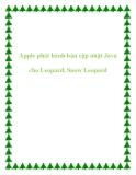 Apple phát hành bản cập nhật Java cho Leopard, Snow Leopard.