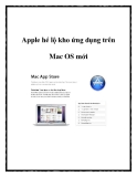 Apple hé lộ kho ứng dụng trên Mac OS mới