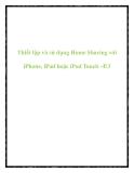 Thiết lập và sử dụng Home Sharing với iPhone, iPad hoặc iPod Touch –P.3