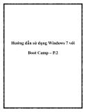 Hướng dẫn sử dụng Windows 7 với Boot Camp – P.2