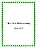 Chuyển từ Windows sang Mac – P.5