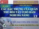Đề tài: Các đặc trưng của quẩn thể bèo tây ờ Hồ Hàm Nghi Đà Nẵng