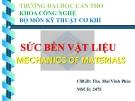 Bài thuyết trình sức bền vật liệu- Chương 4