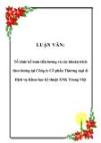 LUẬN VĂN: Tổ chức kế toán tiền lương và các khoản trích theo lương tại Công ty Cổ phần Thương mại & Dịch vụ Khoa học kỹ thuật XNK Trung Việt