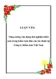 LUẬN VĂN:  Tăng cường vận dụng thử nghiệm kiểm soát trong kiểm toán Báo cáo tài chính tại Công ty Kiểm toán Việt Nam