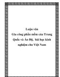 Luận văn Gia công phần mềm của Trung Quốc và Ấn Độ, bài học kinh nghiệm cho Việt Nam