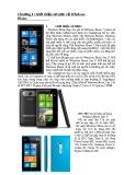 Giới thiệu sơ lược về Windows Phone