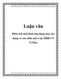 Luận văn: Phân tích tình hình tín dụng mua, xây dựng và sửa chữa nhà ở tại MHB- CN Ô Môn