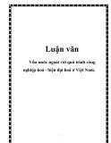 Luận văn đề tài:Vốn nước ngoài với quá trình công nghiệp hoá - hiện đại hoá ở Việt Nam.