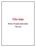 Tiểu luận: Tài phán hành chính Việt Nam