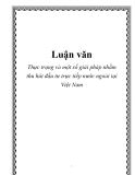 Luận văn: Thực trạng và một số giải pháp nhằm thu hút đầu tư trực tiếp nước ngoài tại Việt Nam