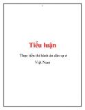 Tiểu luận: Thực tiễn thi hành án dân sự ở Việt Nam