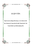 LUẬN VĂN:  Hạch toán lao động tiền lương và các khoản trích theo lương tại Trung tâm Du lịch Thanh niên Việt Nam( Khách sạn Khăn Quàng Đỏ)