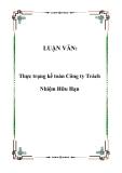 LUẬN VĂN:  Thực trạng kế toán Công ty Trách Nhiệm Hữu Hạn