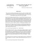 Thông báo số 171/TB-UBND