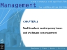Management-CHAPTER 2 Traditional and contemporary issues and challenges in management